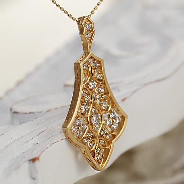 エントリーのみでポイント10倍 4/9 20時~ アルハンブラシリーズ ダイヤモンドペンダントトップ「ムカルナス」対応金種:K18WG/YG/PG/SG送料無料