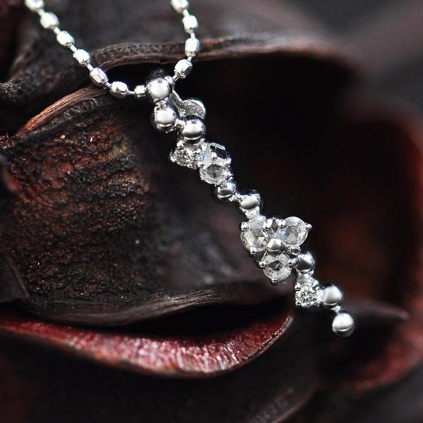 GWイベント開催中 ローズカットダイヤモンド&ダイヤモンドペンダントトップゴールド、ピンクゴールドでもお作り頂けますオーダー 誕生石 4月 母の日
