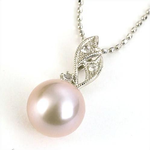 エントリーのみでポイント10倍 4/9 20時~ 湖水真珠パープル8-8.5mm×ローズカットダイヤモンドペンダントトップ「ノビリティ」 真珠 ペンダント