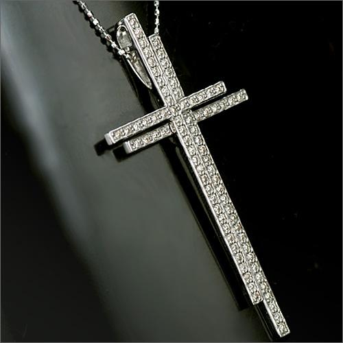「ダブルクロス」 ダイヤモンド クロスペンダント/ヘッドのみ 誕生石 4月