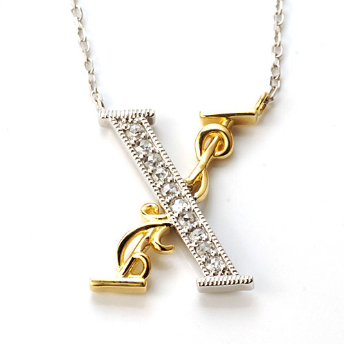エントリーのみでポイント10倍 4/9 20時~ 「X -ten」ローズカットダイヤモンド ペンダントネックレス