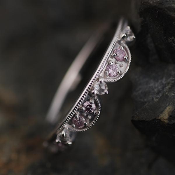 エントリーのみでポイント10倍 4/9 20時~ ピンクダイヤモンド ローズカットダイヤモンド リング対応金種:K18WG/K18YG/K18PG/K18SG