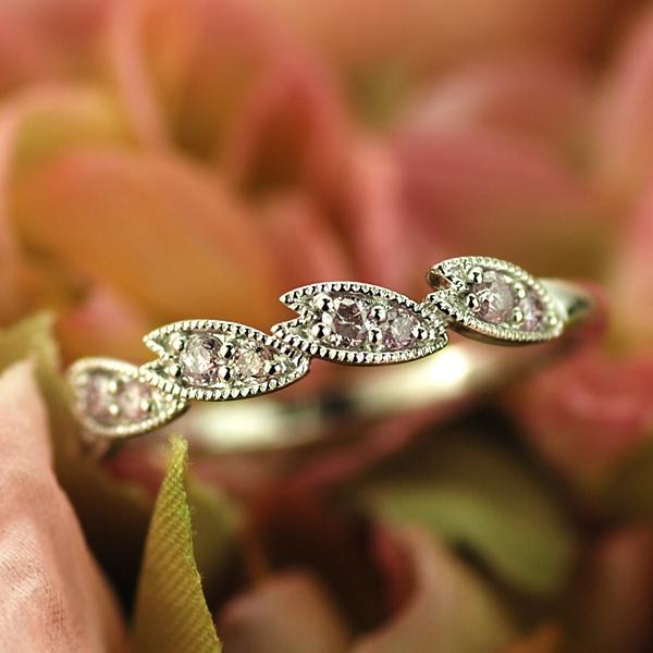 アーガイル鉱山産ピンクダイヤモンドリング「桜」 誕生石 4月 春色ピンク