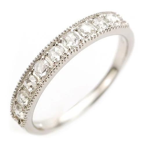 ローズカットダイヤ エレガントリング「煌きクラシカル」静かで奥深いローズカットダイヤダイヤモンドの煌めき。 誕生石 4月