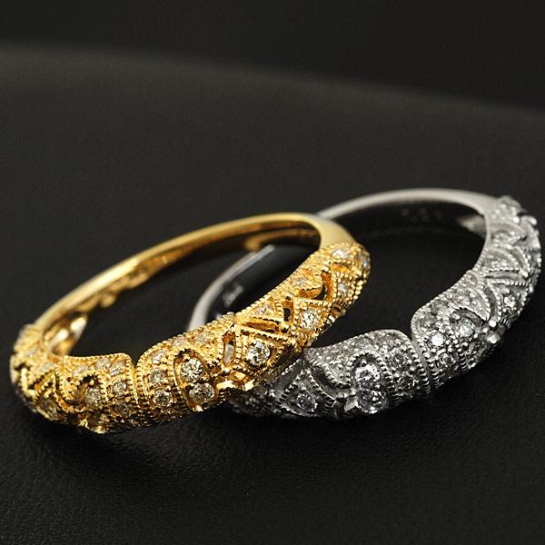 ダイヤモンドリング「シノワズリ」 対応金種:K18WG/YG/PG/SG 誕生石 4月