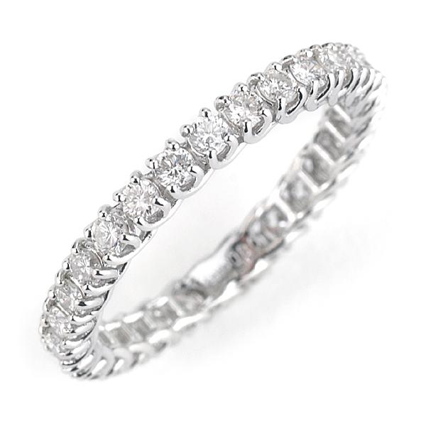 エントリーのみでポイント10倍 4/9 20時~ PT900ブリリアントカットダイヤモンド フルエタニティリング「ボンド」※リングサイズのお直しは不可