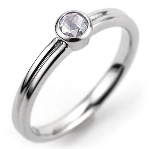 GWイベント開催中 [ - Parulu - ]PT900ローズカットダイヤモンドリング「永~とこしえ」 誕生石 4月 母の日