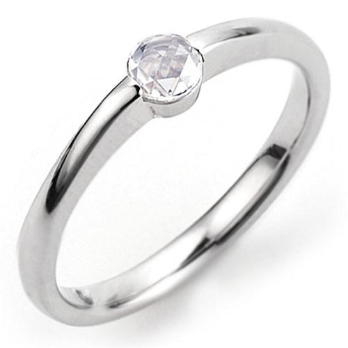 エントリーのみでポイント10倍 4/9 20時~ [ - Parulu - ]PT900ローズカットダイヤモンドリング「幸~さち」