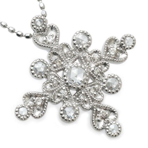 エドワーディアンの煌めき ローズカットダイヤモンドxダイヤモンド ペンダントトップK18 WG YG PG SG 対応 誕生石 4月 お買い得 成人の日 販促品 ギフトラッピング