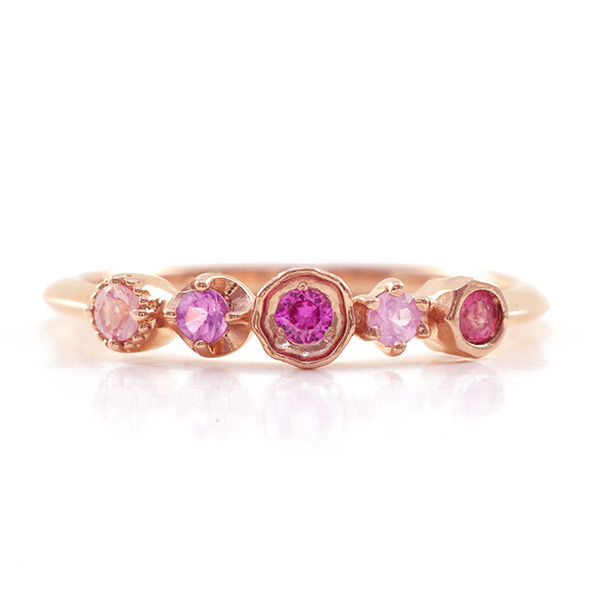 K10 ノスタルジックピンク「カレイド」マルチカラーリングK18/K10対応K18仕様は別ページよりご注文ください 春色ピンク 春色ピンク