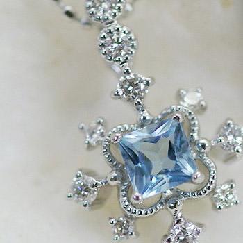 サンタマリアアフリカーナアクアマリン×ダイヤモンドペンダントトップ「デコーレ」(チェーン無し) 誕生石 3月 4月
