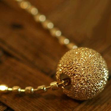 スターダストペンダント「オーロ/グレーン」ゴールド ネックレス(チェーン付き)