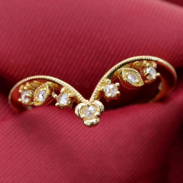 ローズカットダイヤモンドリング「フィオレロ」Fiorello 重ね付け ファッション 指輪 レディース 誕生石 4月 ギフト プレゼント
