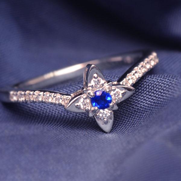 アウイナイト×ダイヤモンドリング「プリマステッラ」Prima Stella PT900・K18・K10対応 ※地金により金額が変わります