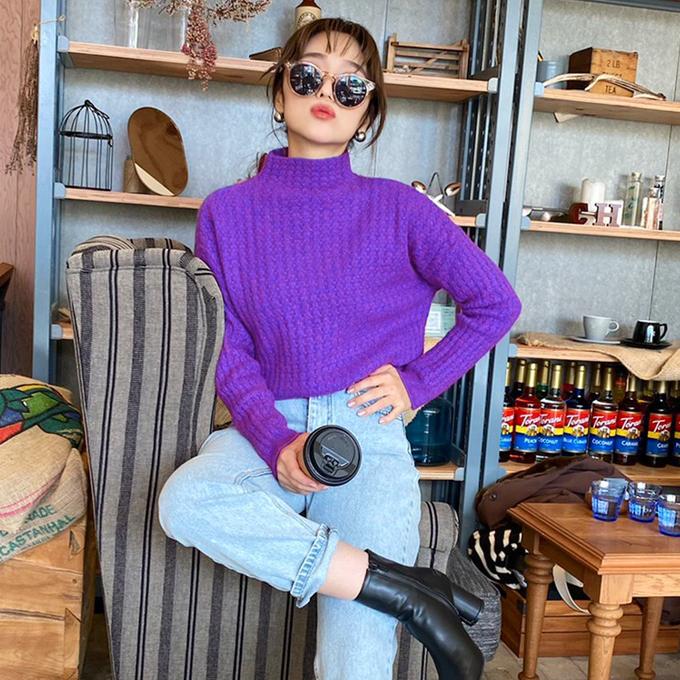 表情豊かなワッフル編みが可愛い GLAMOROUS GARDEN ワッフル編みニット ワッフル カラフル 当店は最高な サービスを提供します デザイン こなれ レディース トップス 4 長袖 税込 評価 グラマラスガーデン 950円 当店通常価格