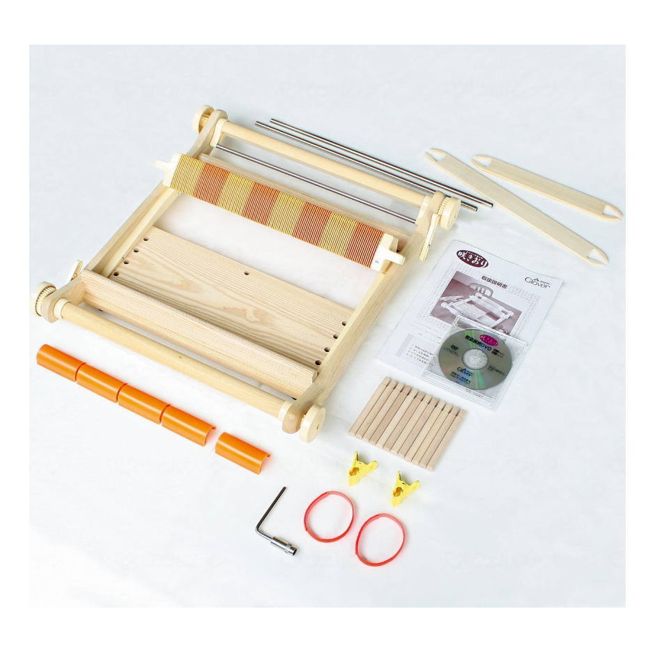 【レクリエーショングッズ】手織り機 [咲きおり] (最大折り幅40cm) 1台 取扱いDVD付き クローバー【送料無料】
