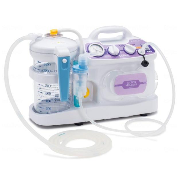 新鋭工業 セパ2 (セパ-II・NS2-1400) 吸引・吸入両用器 ネブライザー 小型 卓上 介護 在宅 たん 痰 鼻水 老人 介護用品