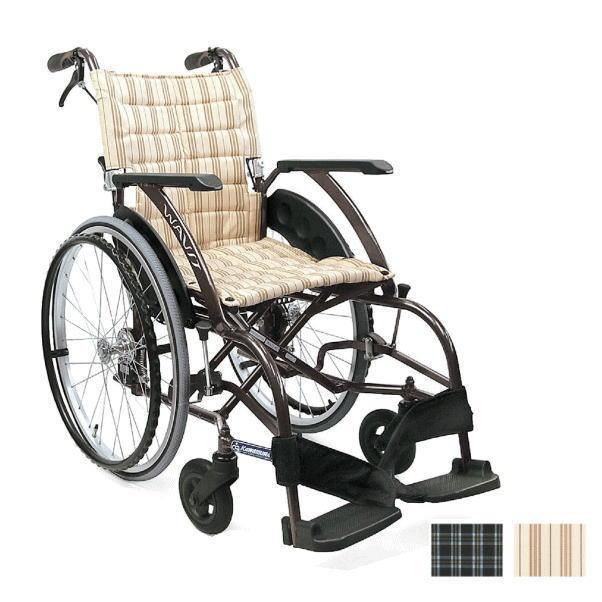 【非課税】カワムラサイクル WAVIT ウェイビット 自走式 背折れ可・介助ブレーキ付きWA22-40/42S