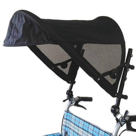 片山車椅子製作所 真夏の熱中症予防に 車椅子用日除け [Tシェード] 紫外線予防 暑さ対策 熱中症 サンシェード メッシュ 車いす 日傘 外出 お出かけ 真夏 介護用品