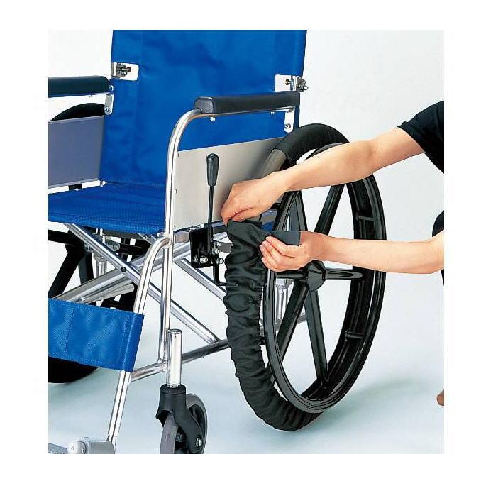 室内移動で車輪を拭く手間が省けます 車いす 車椅子 車イス 激安価格と即納で通信販売 脱輪予防 施設 病院 2本一組 介護 毎日がバーゲンセール 車いす関連備品 ピジョンタヒラ 車いす車輪カバー