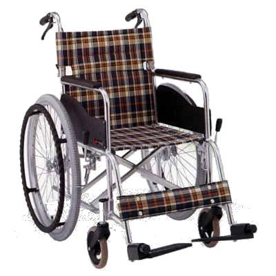 【非課税】松永製作所 スタンダード車椅子 アルミAR基本タイプ 背折りたたみ・介助式 AR301