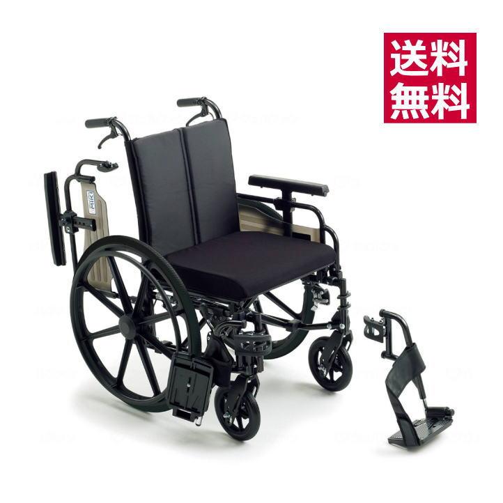 【非課税】ミキ アルミ製 自走型・ビッグサイズ車椅子 KJP-4 介助ブレーキ付・ノーパンクタイヤ仕様