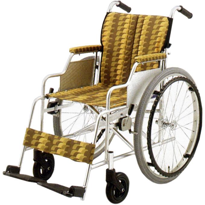 【非課税】日進医療器 アルミ製車いす 自走用 NA-400シリーズ ADタイプ NA-446AD 前座高44cm