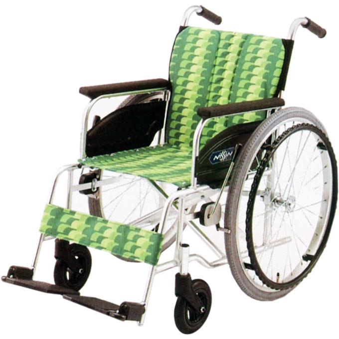 【非課税】日進医療器 アルミ製車いす 自走用 NA-400シリーズ ASタイプ 低床型 前座高40cm