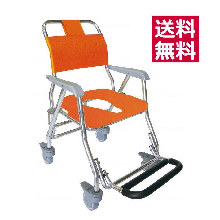 入浴用車椅子 シャワーキャリーLX(5002) 睦三 風呂用車いす 介護用品 在宅介護用 折り畳み式