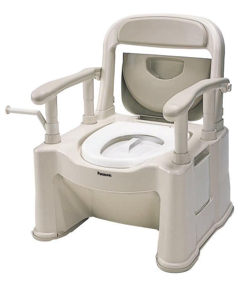 パナソニック ポータブルトイレ 座楽 背もたれ型SP VALSPTSPBE 標準 【送料無料】介護用トイレ おまる 大人用 Panasonic