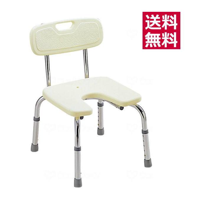 【クーポン配布中】介護用 風呂椅子 バスベンチ U型(背付タイプ)(MYA01031)ミキ・MIKI 背付き 背もたれ付き 入浴椅子 風呂椅子 シャワーチェア シャワーベンチ アイボリー 白 入浴介助 介護用品