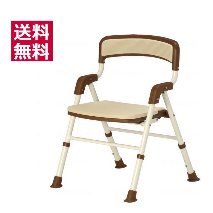 入浴用椅子 [シャワーバスター2 折りたたみタイプ] (113820) 竹虎 ブラウン SGマーク付き 送料無料 高さ3段階調節○