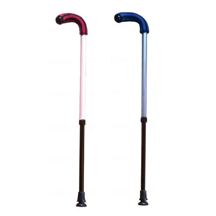 【伸縮式ステッキ】マグネシウムひょっこり杖 サテライト 左右選べる ※この杖は折り畳みできません※【送料無料】