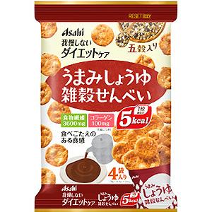 リセットボディ うまみしょうゆ雑穀せんべい 信託 4袋 5%OFF カロリーコントロール食 アサヒ 雑穀せんべい 22g×4袋
