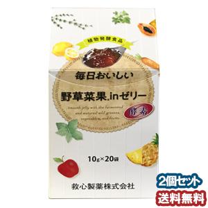 毎日おいしい野草菜果inゼリー 10g×20袋 ×2個セット あす楽対応