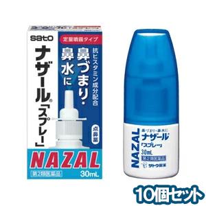 【第2類医薬品】 ナザール スプレー ポンプ 30ml ×10 あす楽対応
