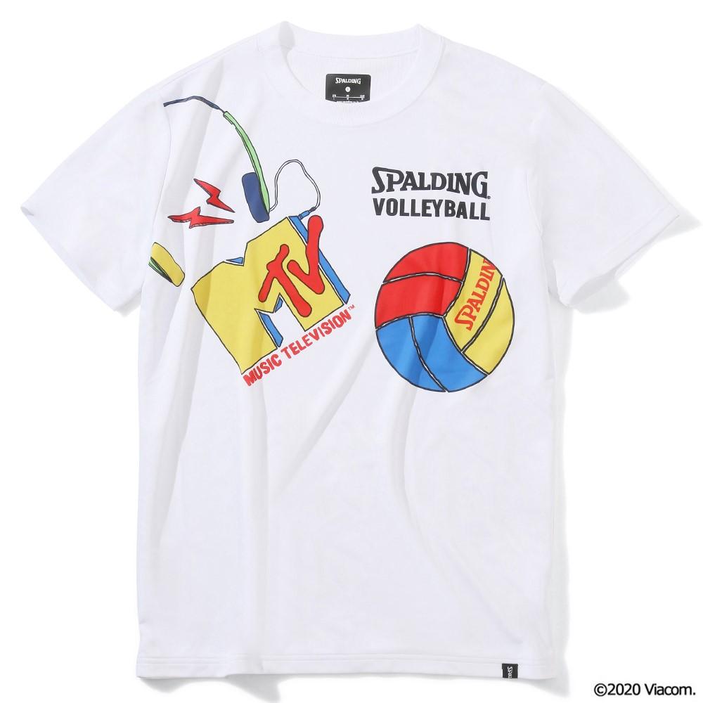 バレーボールTシャツ MTV ミュージック SMT201940 正規品 新作販売 SPALDING スポルディング バレーボール バレー ウェア 半袖 練習着 シャツ レディース 男性 メンズ ユニセックス 男女兼用 女性 日本製