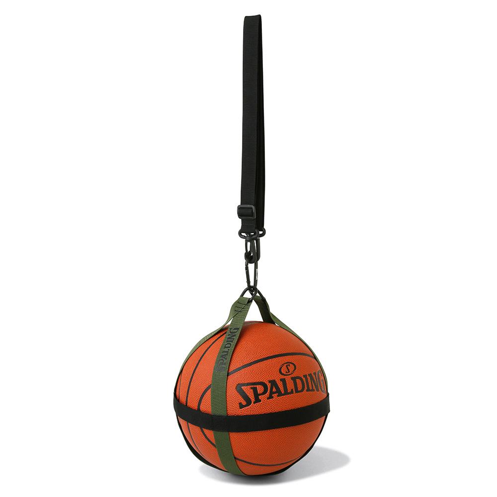 バスケットボールハーネス ブラック×カーキ 50-013KH 正規品 SPALDING スポルディング バスケットボール バスケ バッグ 舗 ボールケース ボール 男性 オシャレ 女性 卸直営 メンズ 1個 男女兼用 ユニセックス おしゃれ レディース