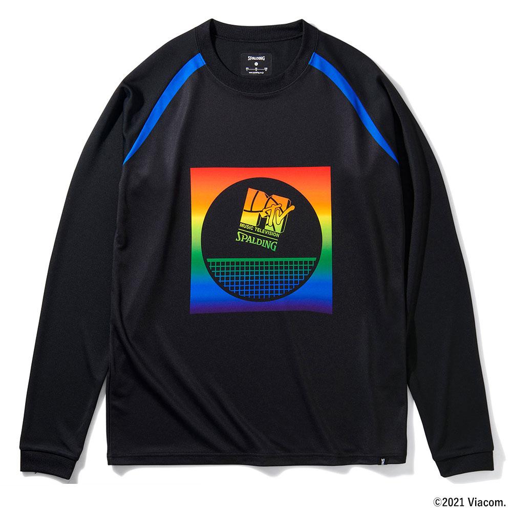 バレーボールロングスリーブTシャツ MTVレインボー SMT211800 正規品 SPALDING スポルディング 与え バレーボール バレー ウェア メンズ 練習着 男女兼用 半袖 シャツ 女性 ユニセックス 男性 初回限定 レディース