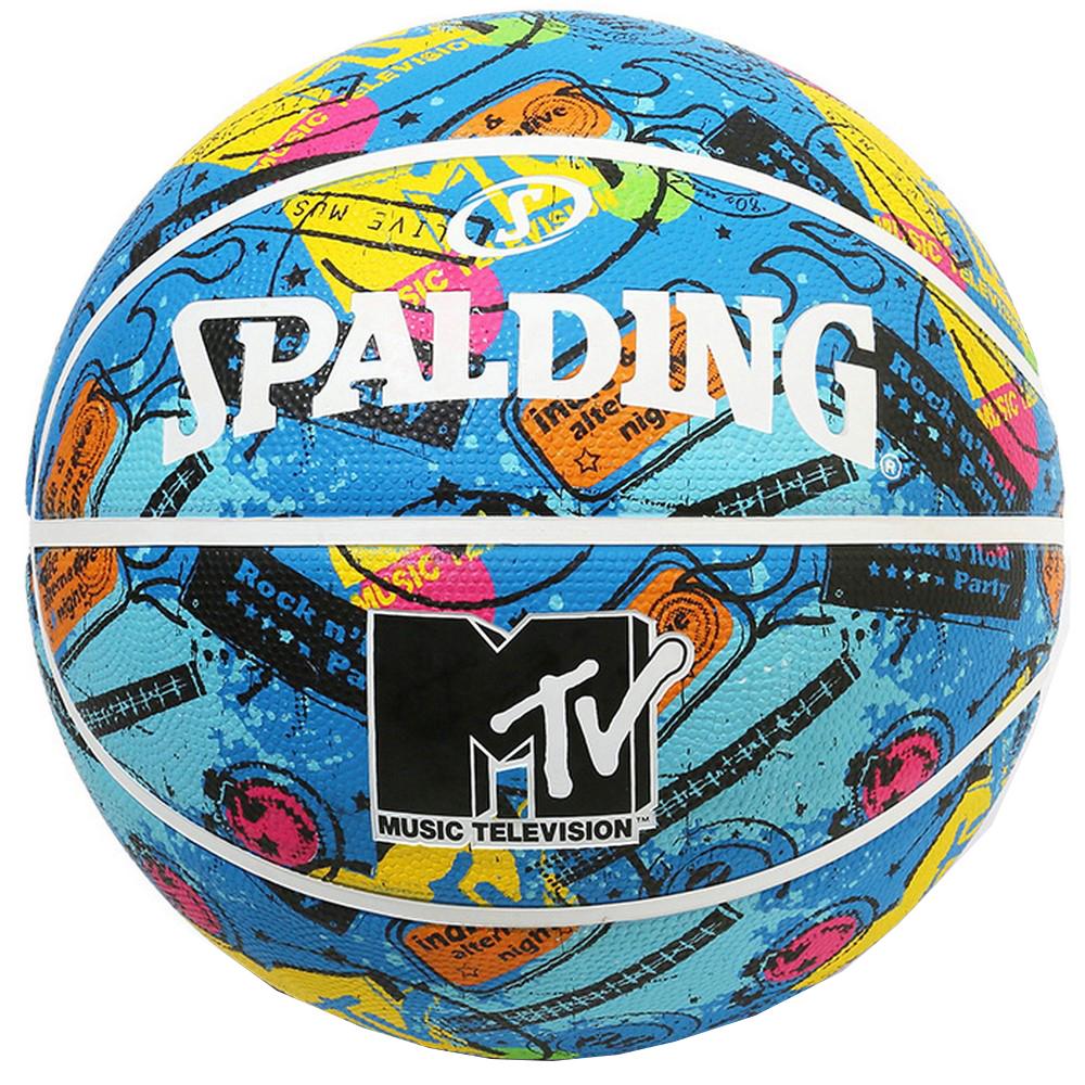 MTV 35%OFF ギター ラバー 7号球 84-064J 正規品 SPALDING スポルディング ゴム 屋内 室内 屋外 バスケットボール 7号 外用 海外並行輸入正規品 バスケ