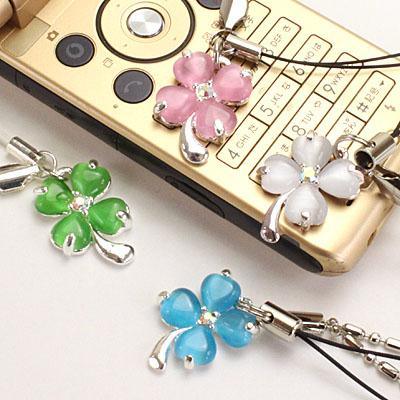 ◆選べる4色/幸運を呼ぶ♪/四つ葉のクローバー/ストラップ【福袋価格】