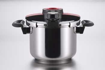보르도 양손 압력솥 6 L(레드) /2단계 압력 조정 기능/안전 락 핀/초보자라도 안심의 간단 개폐와 안전 락 특허 취득 상품
