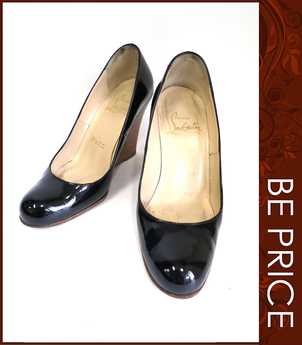Christian Louboutin クリスチャンルブタン ウェッジソールパンプス パテント靴【35】【Bランク】【中古】ts280326