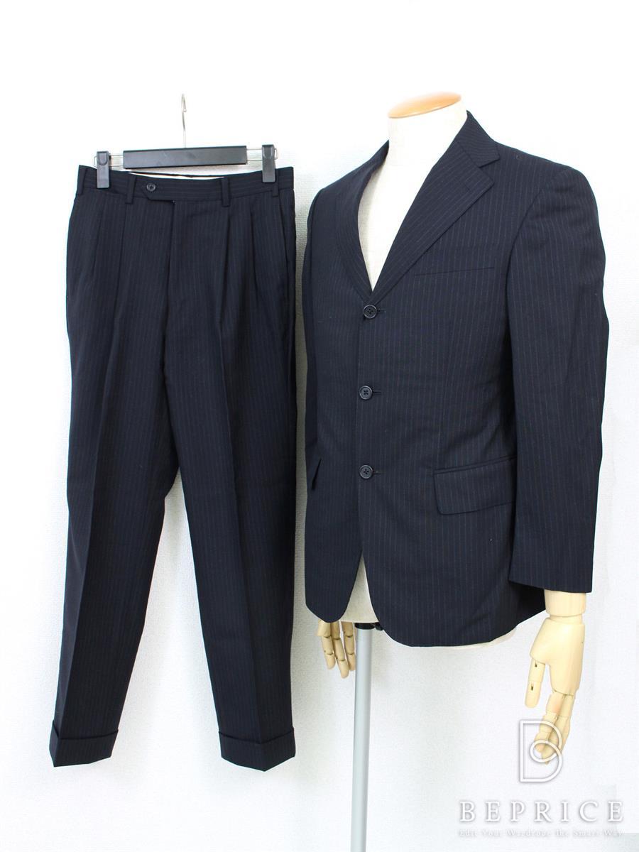 UNITED ARROWS ユナイテッドアローズ スーツ 42 ストライプ 【Bランク】【中古】tn280512