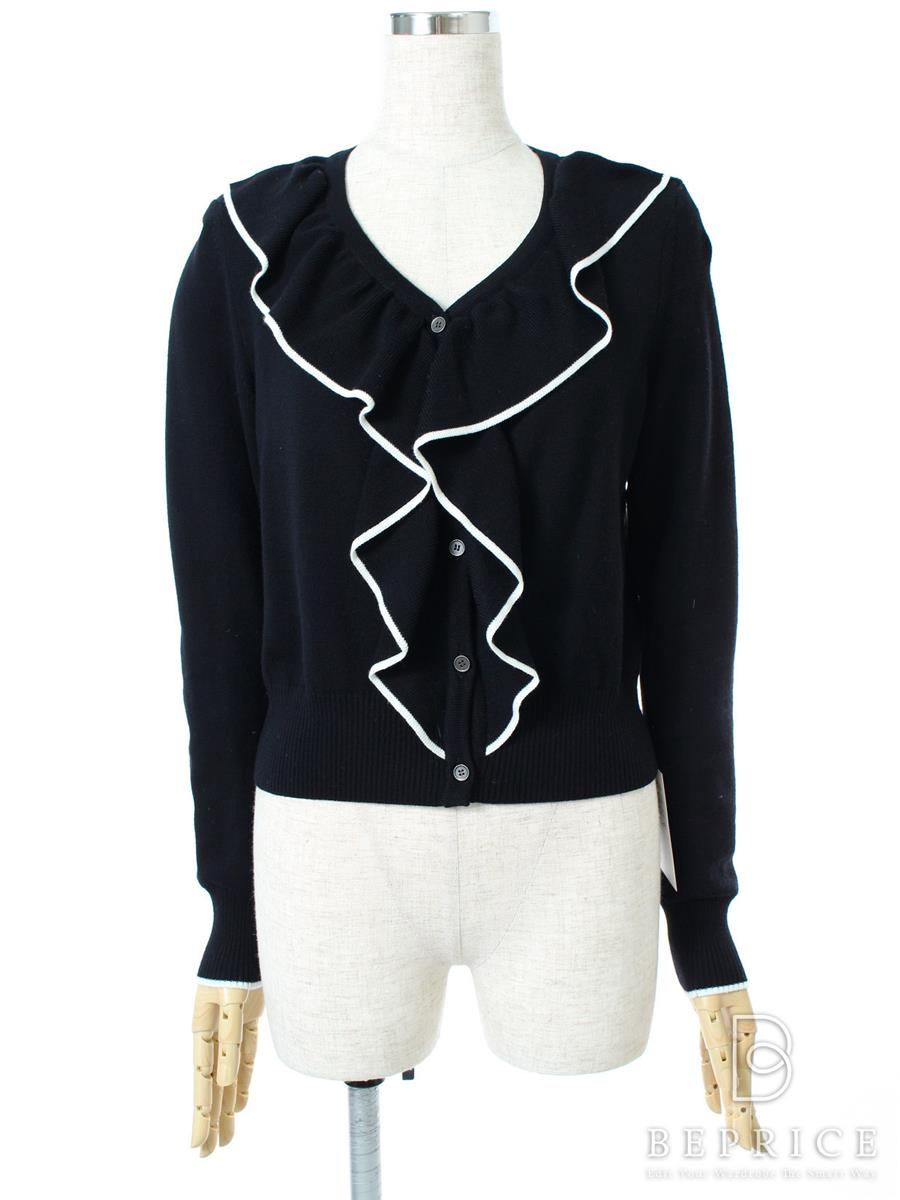 FOXEY BOUTIQUE フォクシー カーディガン Feather Ruffle Cardigan【38】【Aランク】【中古】tn290525