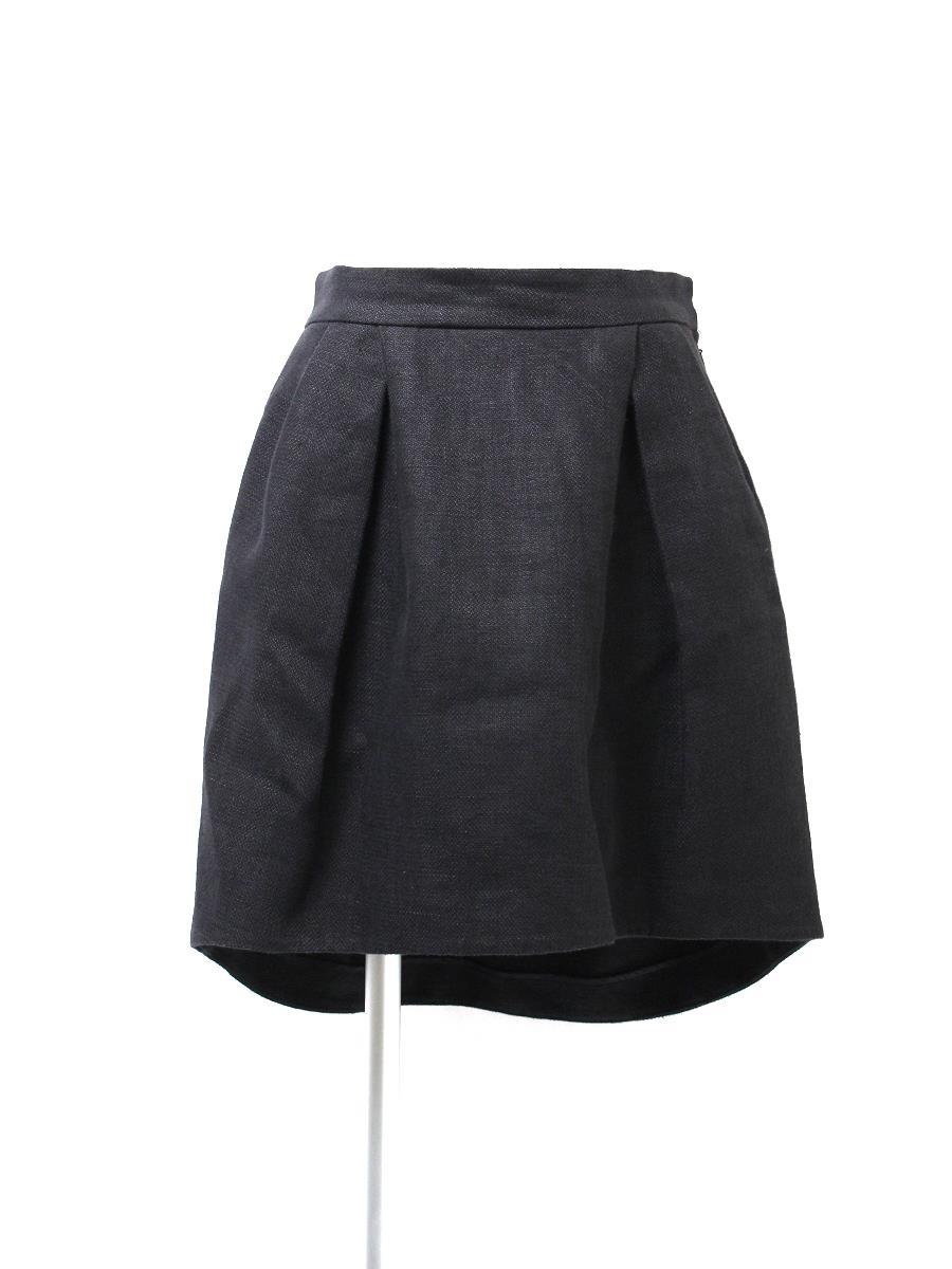 YOKO CHAN ヨーコチャン スカート イレギュラーヘム リネン【40】【Bランク】【中古】ic290611