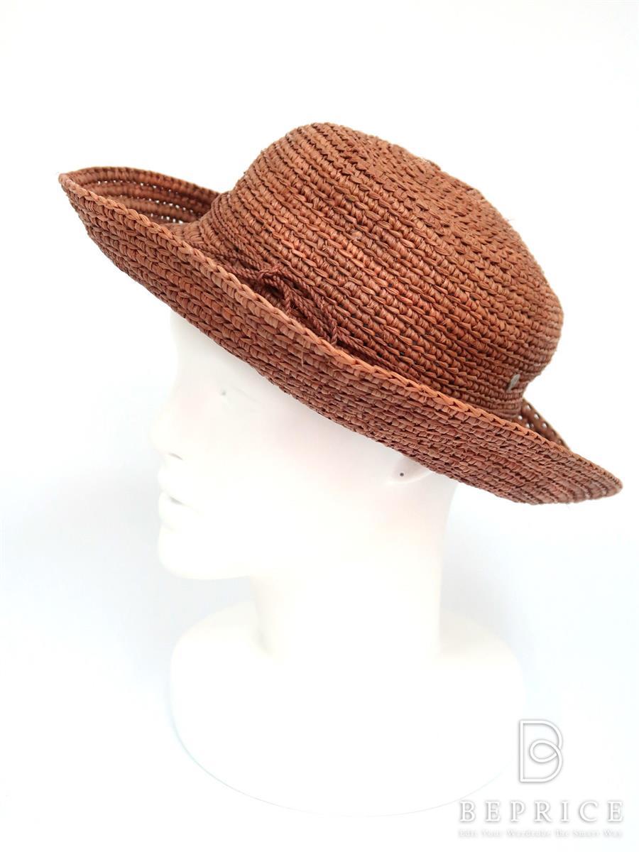 HELEN KAMINSKI ヘレンカミンスキー 帽子 ラフィア ハット【Aランク】【中古】tn290706