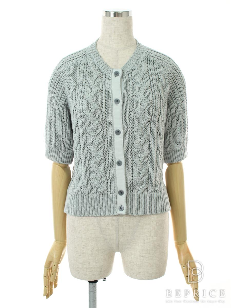 FOXEY NEWYORK フォクシー カーディガン Baby Cable Sweater Cardigan Collection【40】【Aランク】【中古】tn290831t