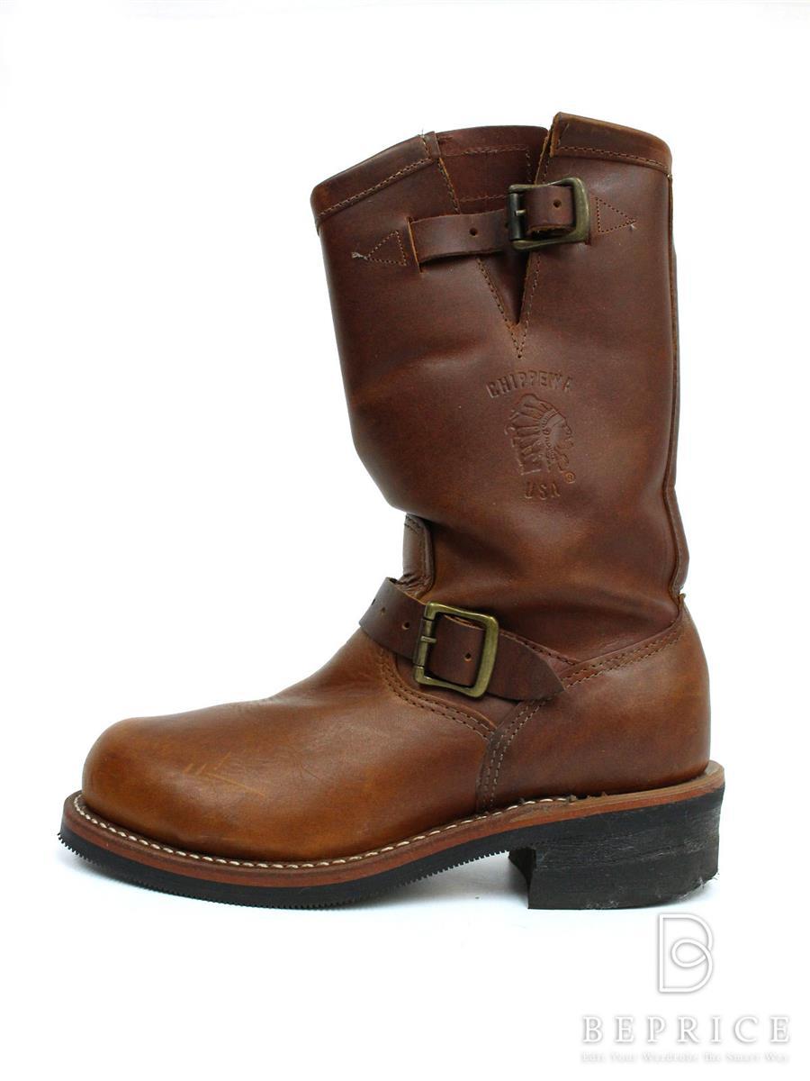 CHIPPEWA チペワ 靴 ブーツ ENGINEER BOOTS 91066【7E】【Bランク】【中古】gz290831t