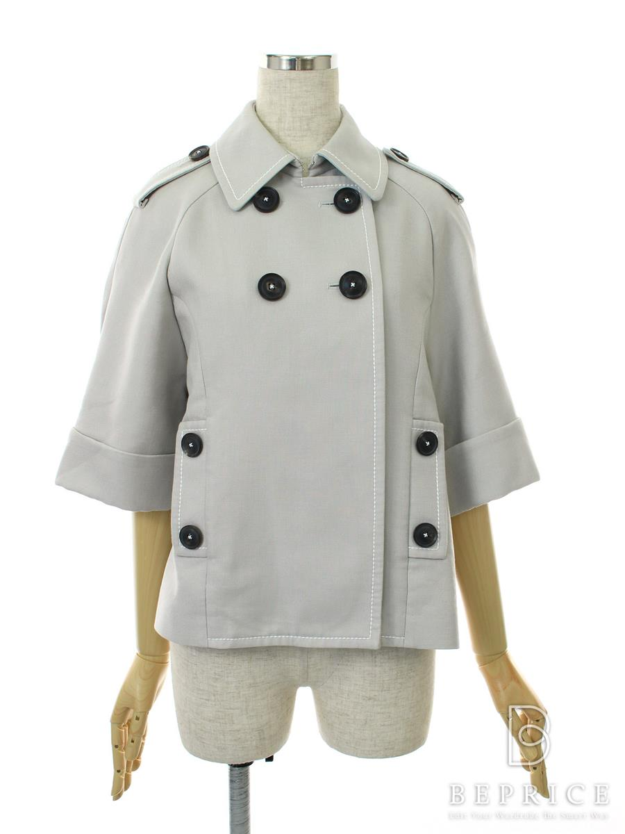 FOXEY NEWYORK フォクシー ジャケット Doubleface Cotton Crop Trench Collection【38】【Aランク】【中古】tn291019t